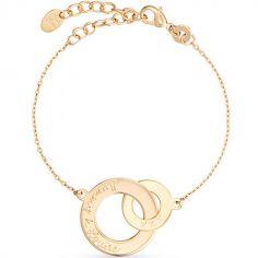 Bracelet Anneaux entrelacés personnalisable (plaqué or)
