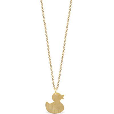 Collier Mini Coquine canard (vermeil doré)  par Coquine
