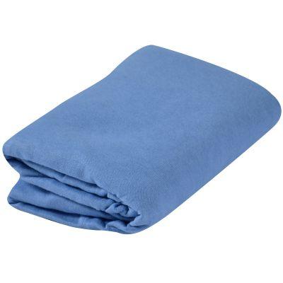 drap housse jersey bleu denim 40 x 80 cm doux nid. Black Bedroom Furniture Sets. Home Design Ideas