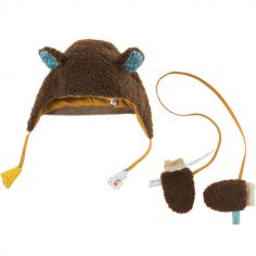 Bonnet et moufles Les Jolis trop Beaux (0-6 mois)