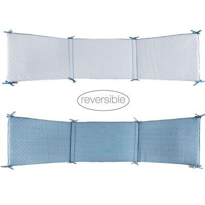 Tour de lit Pure bleu (pour lits 60 x 120 et 70 x 140 cm)  par Nattou