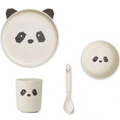 Coffret repas en bambou panda creme de la creme (4 pièces)