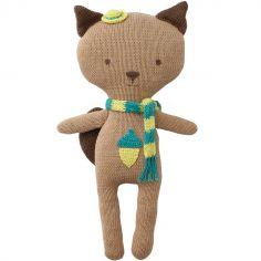 Peluche en tricot écureuil Quincy (33 cm)