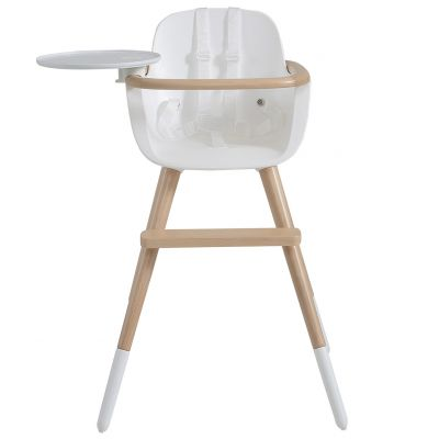 Chaise haute évolutive Ovo Plus one avec harnais blanc  par Micuna