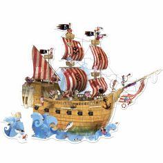 Puzzle Le bateau de pirates (39 pièces)