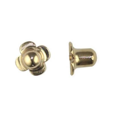 Fermoir à vis pour boucle d'oreille (or jaune 750°) | vendu à l'unité  par Berceau magique bijoux