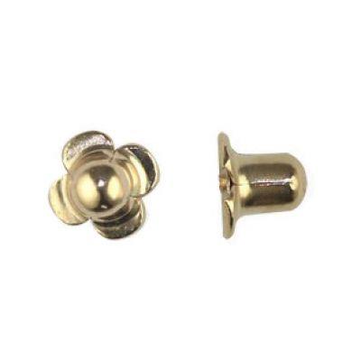 Fermoir à vis pour boucle d'oreille (or jaune 750°)   vendu à l'unité  par Berceau magique bijoux