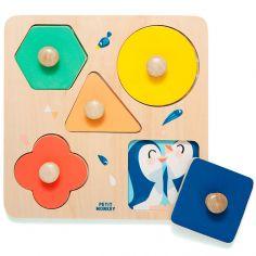 Puzzle à encastrement en bois Un jour au zoo (5 pièces)