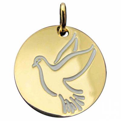 Médaille Espérance colombe en vol (plaqué or jaune)  par Martineau