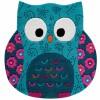 Tapis Little Owl hibou bleu (100 x 100 cm) - Smart Kids