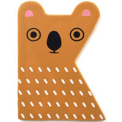 Lettre décorative K comme koala Petit Monkey