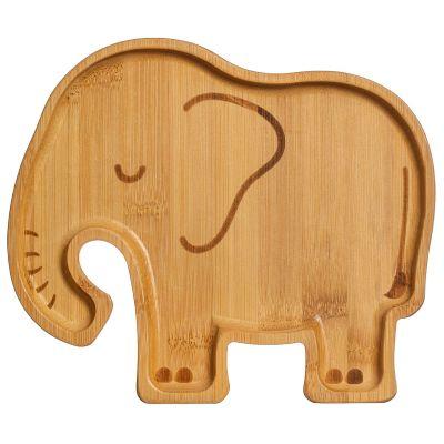Assiette en bambou Elephant  par sass & belle