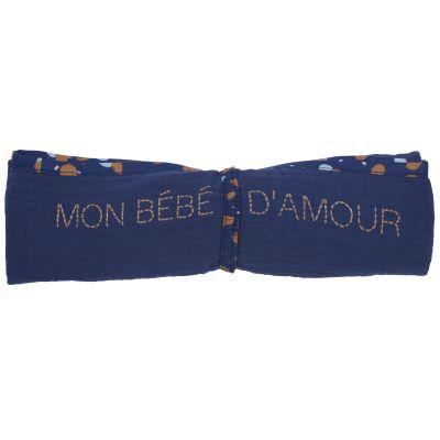Lange en coton Mon bébé d'amour Stardust (70x 70 cm)  par BB & Co