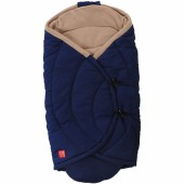 Couverture nomade Coo Coon bleu marine et beige (0-12 mois) - Kaiser