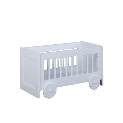 coffre jouets chariot r verie blanc par tartine et chocolat. Black Bedroom Furniture Sets. Home Design Ideas