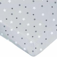 Drap housse étoile gris (70 x 140 cm)