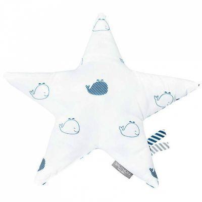 Coussin étoile Blue baleine (30 cm)  par Sauthon