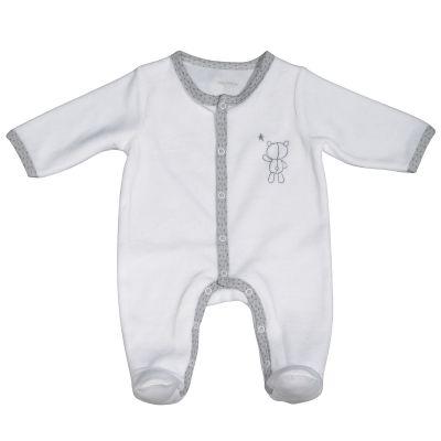 Pyjama chaud blanc nounours Céleste (Naissance)  par Sauthon