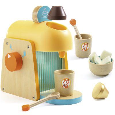 Machine à café en bois Mon expresso  par Djeco