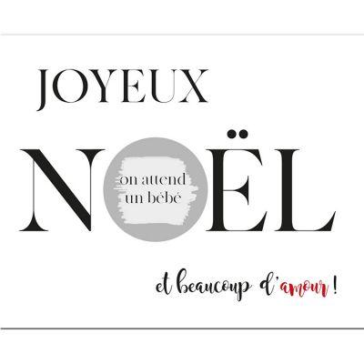 Carte à gratter Annonce de grossesse Joyeux Noël (10 x 8 cm)
