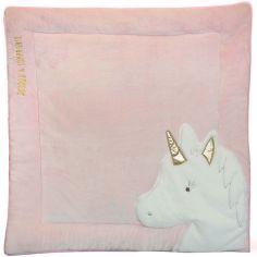 Tapis de jeu Tapidou Ma jolie licorne rose (100 x 100 cm)