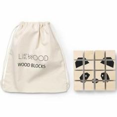 Puzzle cube en bois Lettres, formes et animaux (16 pièces)