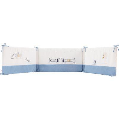 Tour de lit en veloudoux Aston & Jack chien bleu (pour lits 60 x 120 et 70 x 140 cm)