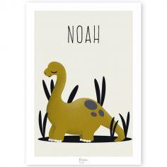 Affiche A4 Diplodocus  Les Dinosaures (personnalisable)