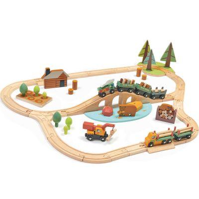 Circuit train en bois Pins sauvages (30 pièces)  par Tender Leaf