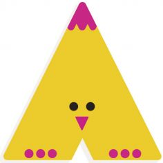 Lettre décorative Poussin A (coloris aléatoire)
