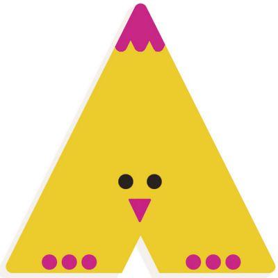 Lettre décorative Poussin A (coloris aléatoire) Djeco