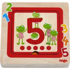 Puzzle à étage Amis des chiffres (5 pièces)