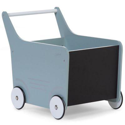 Chariot de marche en bois mint blue  par Childhome