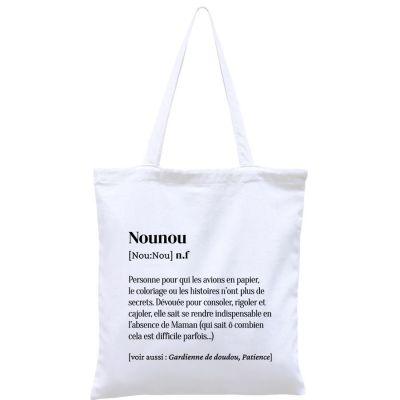 Sac à anses en coton bio Nounou  par Hindbag