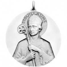 Médaille Saint Guillaume (or blanc 750°)