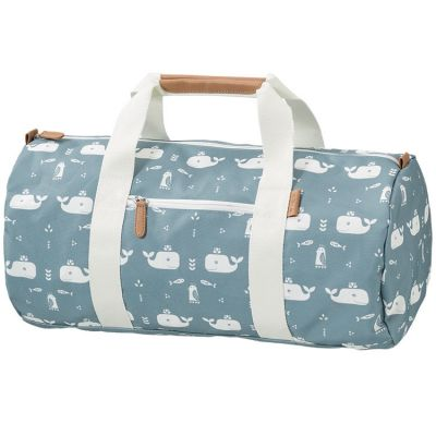 Sac week-end baleine bleu (20 x 45 cm)  par Fresk