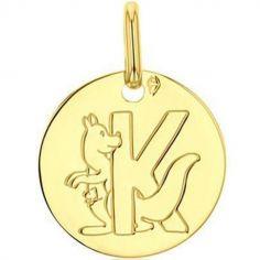 Médaille K comme kangourou (or jaune 750°)