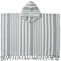 Poncho de bain en coton bio Roomie sea blue (1-2 ans)
