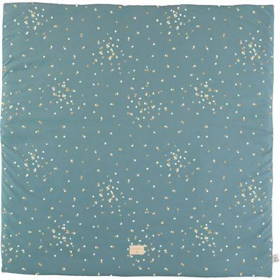 Tapis de jeu Colorado Gold Confetti vert (100 x 100 cm)  par Nobodinoz