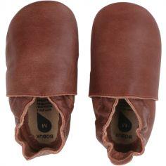 Chaussons bébé en cuir Soft soles Classic toffee (3-9 mois)