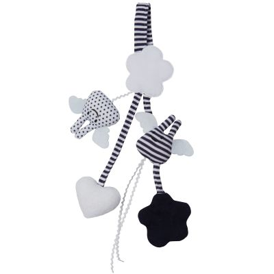 Hochet porte tétine marinière (20 cm)  par Trousselier