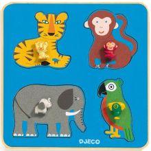 Puzzle à encastrement Family Jungle (4 pièces)  par Djeco