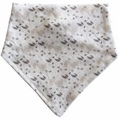 Bavoir bandana en coton bio Dinosaure