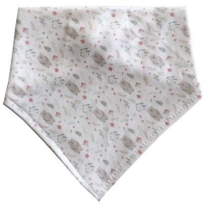 Bavoir bandana en coton bio Ours  par Ma Petite Assiette