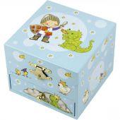 Coffret cube musical Prince et dragon - Trousselier