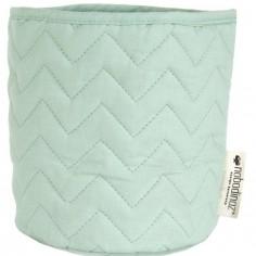 Panier de toilette Samba coton bio Provence green (15 x 16 cm)