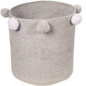 Panier de rangement Bubbly en coton gris (30 x 30 cm) - Lorena Canals