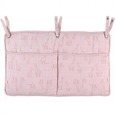 Vide-poches à suspendre en mousseline Mix & Match rose