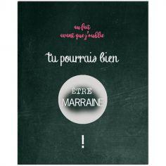 Carte à gratter Demande spéciale Chalkboard Marraine (8 x 10 cm)