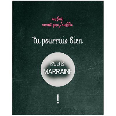 Carte à gratter Demande spéciale Chalkboard Marraine (8 x 10 cm)  par Les Boudeurs